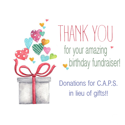 Birthday Fundraiser Thank You