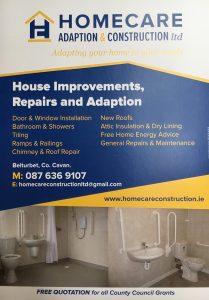 Homecare Adaption & Construction Flyer
