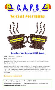 CAPS Social Morning Event Flyer